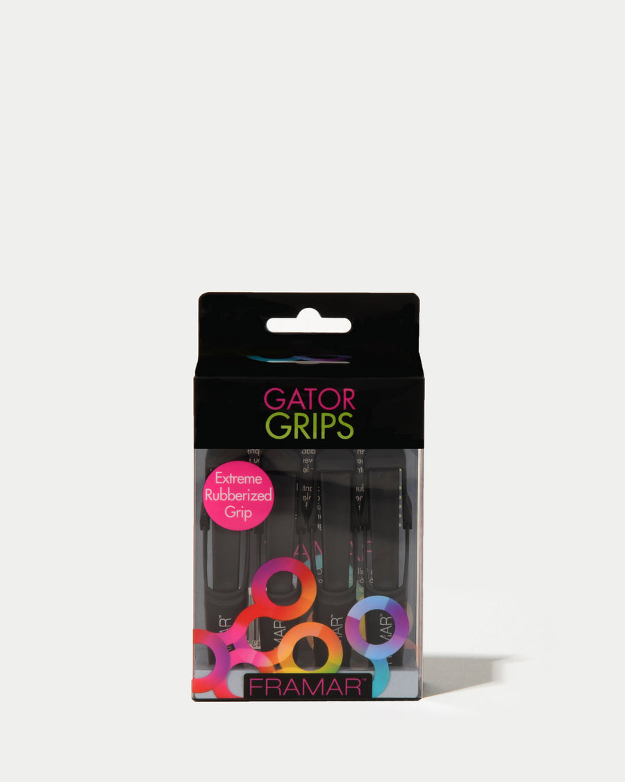 Black Gator Grip Clips - Set of 4