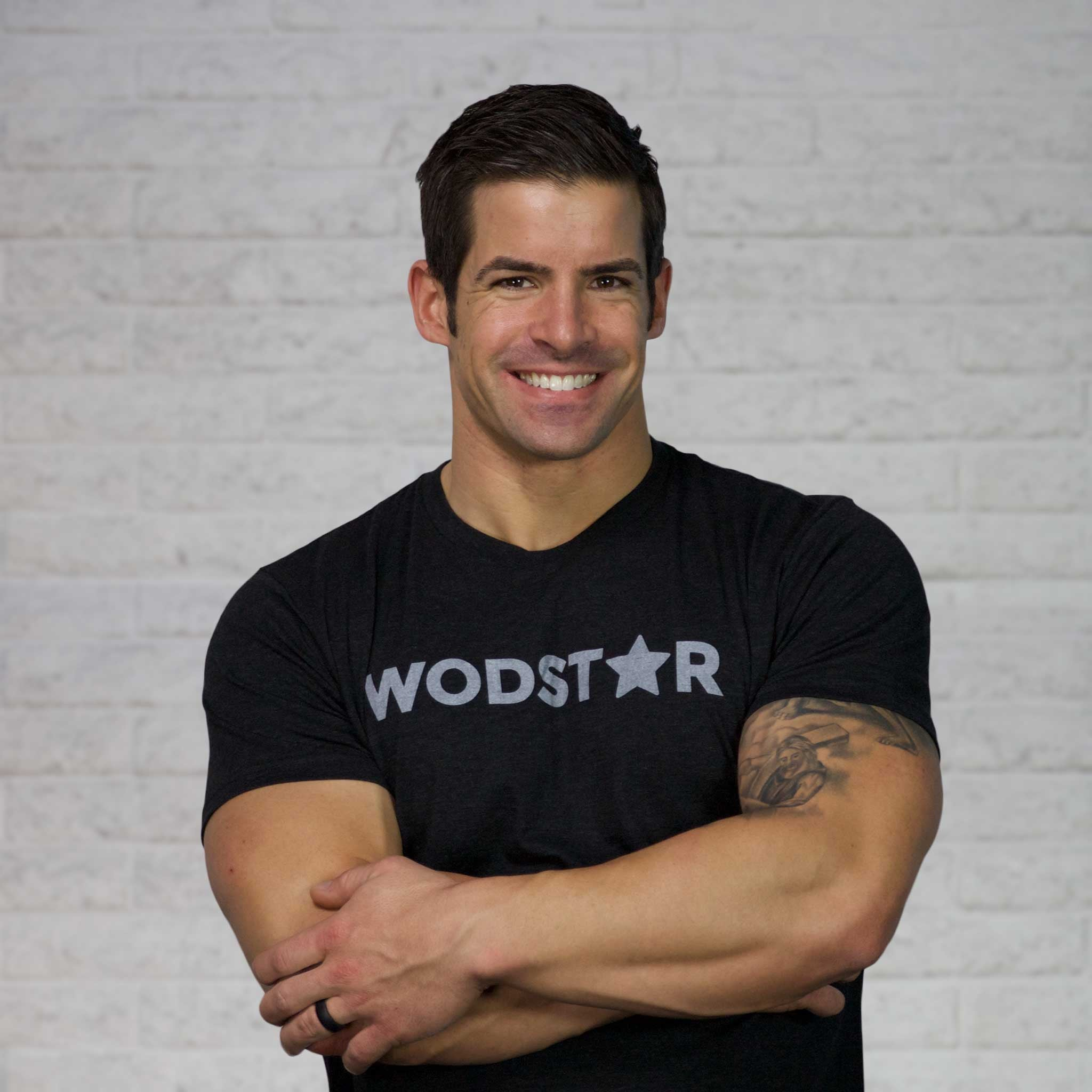 Men's Wodstar Workout T-Shirt: Vintage Black