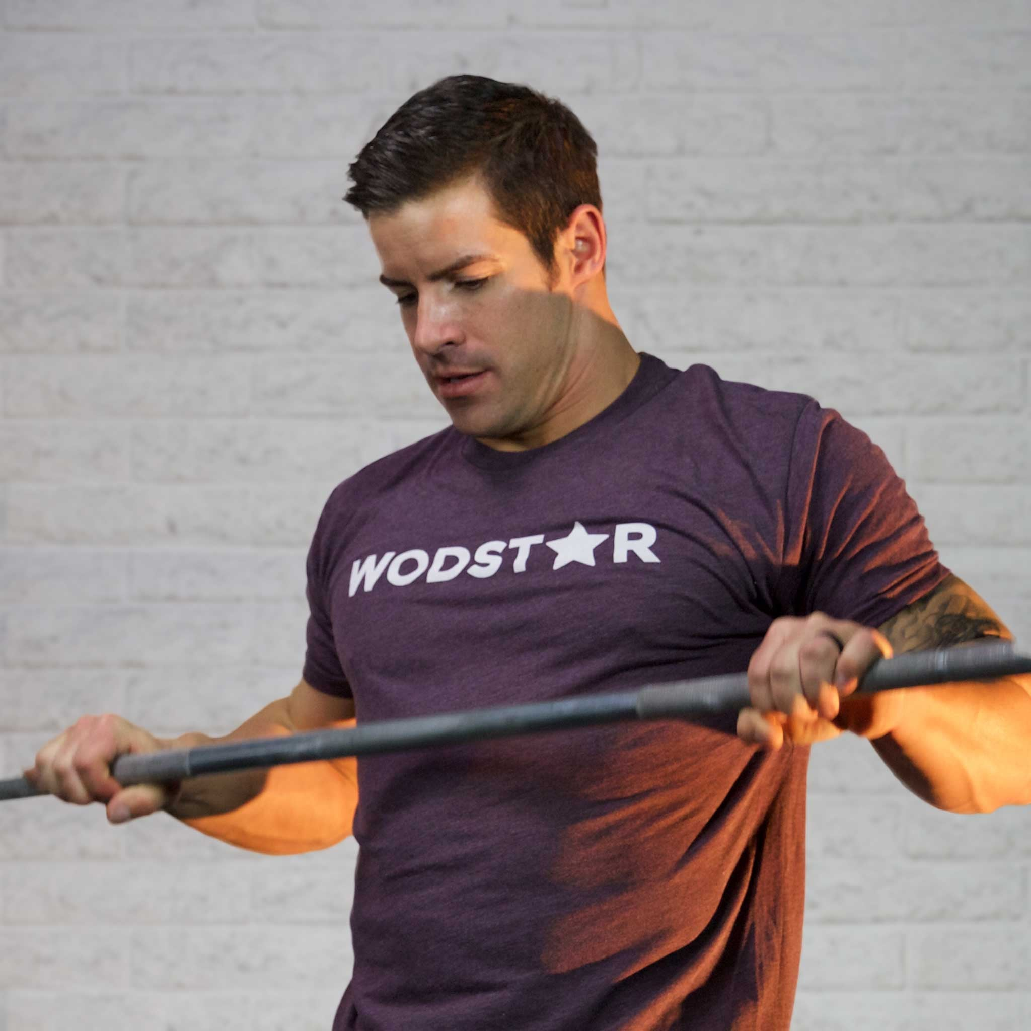 Men's Wodstar Workout T-Shirt: Vintage Purple