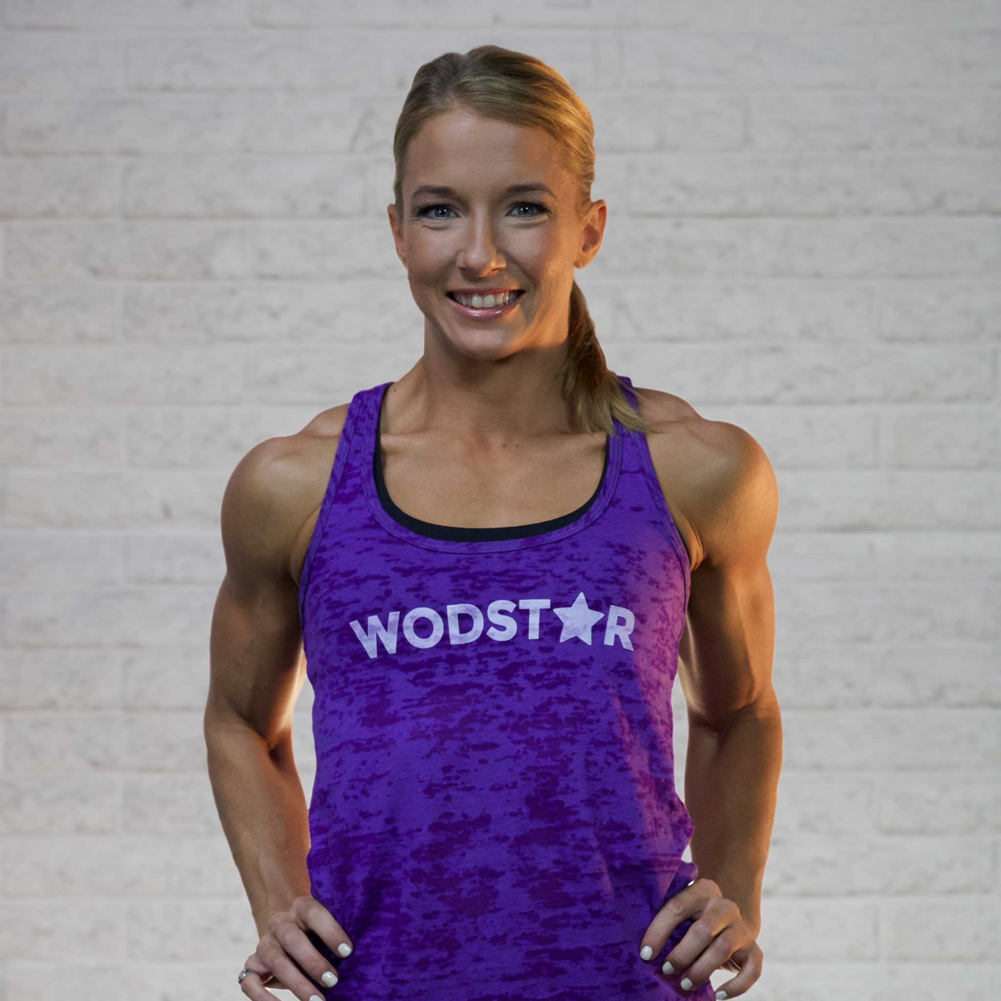 Women's Burnout Workout Tank: Purple