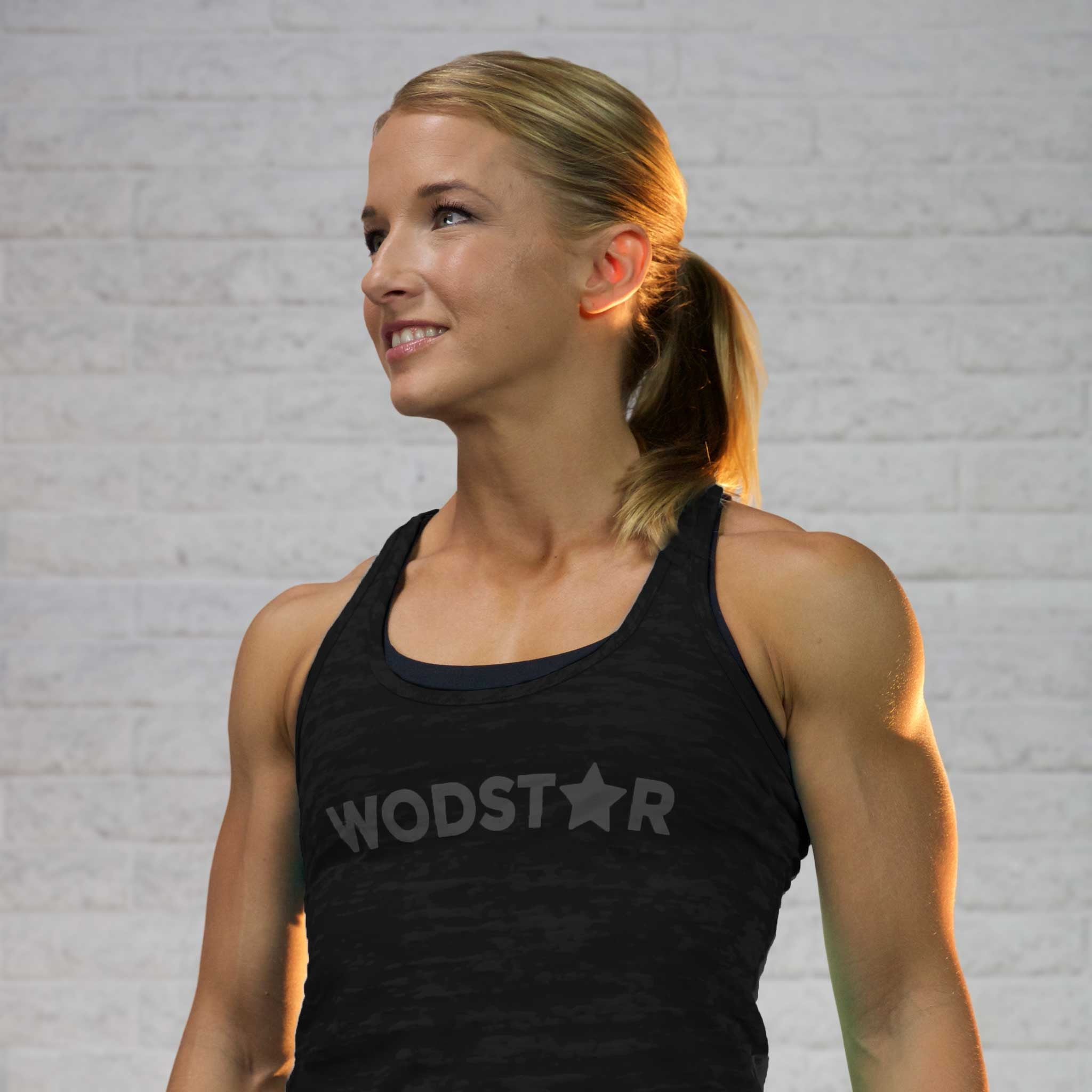 Women's Burnout Workout Tank: Vintage Black