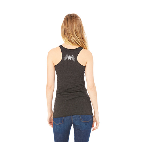 Women's Racer Workout Tank: Charcoal