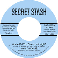 WANDA DAVIS - WHERE DID YOU SLEEP LAST NIGHT? (INSTRUMENTAL)