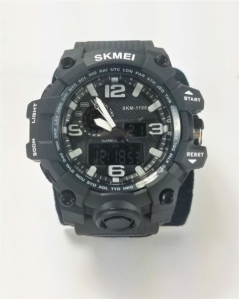 SKMEI Black Men's Military G Style Sport Digital Analog LED Shock Quartz Watch - Forevertime77