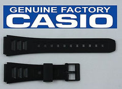 Casio 71603087 Genuine Factory Replacement Black Rubber Watch Band fits W-71 W-72 W-84 W-86
