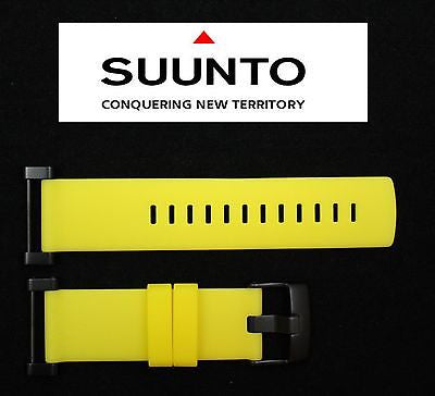 Suunto Core ORIGINAL Flat Yellow Rubber Watch BAND Strap w/ Attachment Pins - Forevertime77