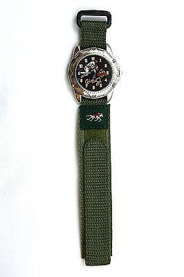 18mm Green Nylon Sport Watch Band Strap Equestrian - Forevertime77