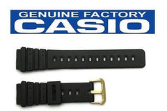 Casio 70375327 Genuine Factory Replacement Black Rubber Watch Band fits AQ-100 AQ-100WG MRD-201 MRD-201WJ MRD-201WS
