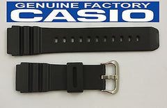 Casio 70368314 Genuine Factory Replacement Black Rubber Watch Band fits AMW-320C AMW-320D DW-3000C