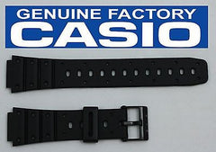 Casio 70610304 Genuine Factory Replacement Black Rubber Watch Band fits SDB-500W SDB-500WX TRI-10W TS-100