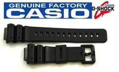 Casio 71604262 Genuine Factory Replacement Black Rubber Watch Band fits DW-6100 DW-6900