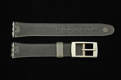 12mm Ladies Clear Replacement Watch Band Strap White Buckle fits SWATCH  watches - Forevertime77