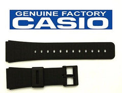 Casio 70378364 Genuine Factory Replacement Black Rubber Watch Band fits DBC-61 DBC-62 DBC-80 DBX-102