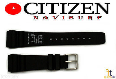 Citizen 59-L7055 Original Replacement 20mm Black Rubber Watch Band Strap - Forevertime77