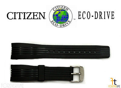 Citizen 59-S51268 Original Replacement 22mm Black Rubber Watch Band Strap - Forevertime77