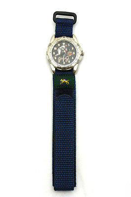 18mm Dark Blue Nylon Sport Watch Band Strap Equestrian - Forevertime77