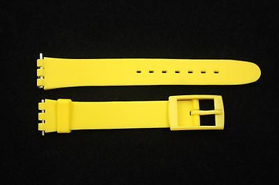 12mm Ladies Yellow Replacement Watch Band Strap fits SWATCH watches - Forevertime77