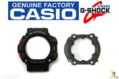 CASIO G-Shock Mudman G-9000-1V Black BEZEL (Top) & Case Back Protector Combo - Forevertime77