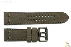 Luminox 1823 1843 Atacama 23mm Gray Leather Watch Band Strap w/ 2 Pins