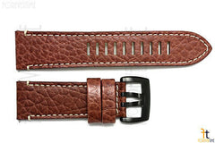 Luminox 1867 Field 26mm Brown Leather Watch Band Strap w/ 2 Pins
