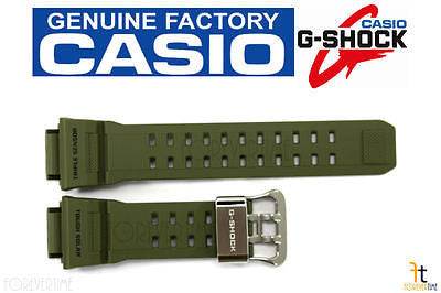 CASIO G-Shock Rangeman GW-9400-3V Original Green Rubber Watch BAND Strap - Forevertime77