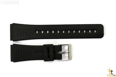 22mm Fits CASIO DBC-30 Data Bank Black Rubber Watch BAND Strap CMD-40 - Forevertime77
