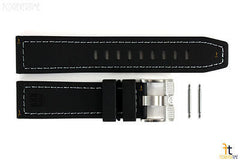 Luminox Coronado 3021 23mm Black Nitrile Rubber Watch Band w/2 Pins 3020