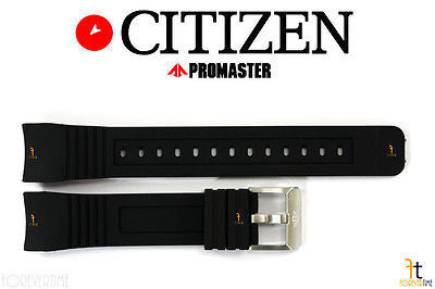 Citizen 59-S53297 Original Replacement 23mm Black Rubber Watch Band Strap - Forevertime77
