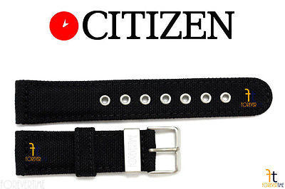 Citizen 59-K50170 Original Replacement 22mm Black Nylon Watch Band Strap - Forevertime77