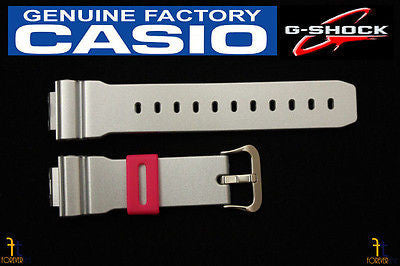 CASIO DW-6900CB-8 G-Shock Original 16mm Grey (Glossy) Rubber Watch Band Strap - Forevertime77
