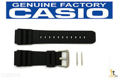CASIO AMW-320R Original 20mm Black Rubber Watch Band Strap w/ 2 Pins AMW-330 AMW-330B