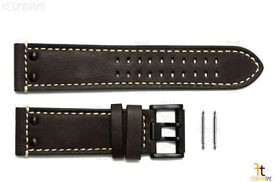 Luminox 1897 Field 26mm Dark Brown Leather Watch Band Strap w/ 2 Pins - Forevertime77