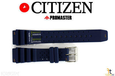 Citizen 59-S53155 Original Replacement 20mm Blue Rubber Watch Band Strap 59-S53198 59-S53408 59-S06105 59-S53197 - Forevertime77