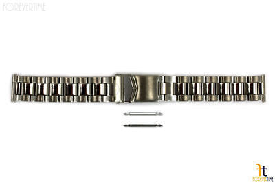 20mm fits Swiss Army Solid Stainless Steel Watch Band Adjustable Links w/ 2Pins - Forevertime77
