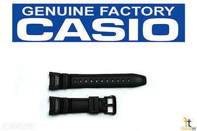 CASIO SGW-100 Original Black Rubber Watch BAND Strap Digital Compass - Forevertime77