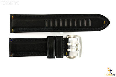 Luminox 1839 Dress Field 22mm Black Leather Watch Band Strap w/ 2 Pins - Forevertime77