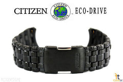 Citizen 59-S03360 Original Replacement Black Ion Plated Stainless Steel Watch Band Bracelet