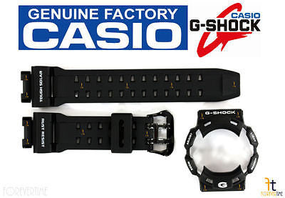 CASIO G-Shock GR-9110BW-1 BLACK Rubber Watch BAND & BEZEL Combo GW-9110BW-1 - Forevertime77