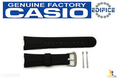 CASIO EF-305 Edifice Original Black Rubber Watch Band Strap w/ 2 Pins EF-305-9