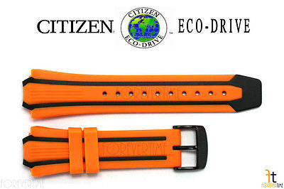Citizen 59-S52504 Original Replacement Orange/Black Rubber Watch Band Strap 59-S52816 - Forevertime77