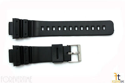 16mm Fits CASIO DW-6900 G-Shock Black PVC Watch BAND Strap DW-6900B DW-6600 - Forevertime77