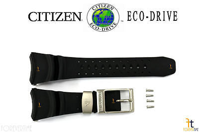 Citizen 59-S50883 Original Replacement Black Rubber Watch Band Strap w/ 4 Screws - Forevertime77