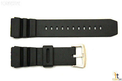 22mm Fits CASIO AMW-320C Black Rubber Watch BAND Strap AMW-320D AD520 - Forevertime77