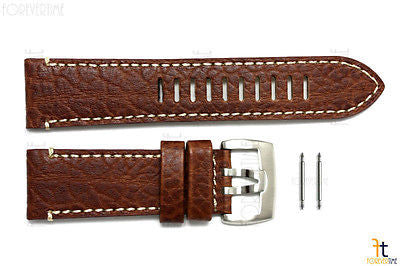 Luminox 1869 Field 26mm Brown Leather Watch Band Strap w/ 2 Pins - Forevertime77
