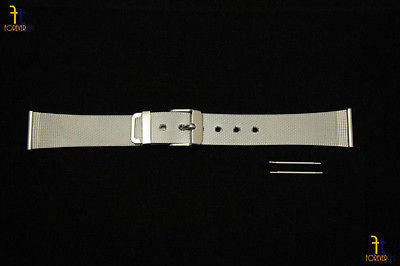 20mm Fits Mondaine Stainless Steel Mesh Watch Band Strap w/ 2 Spring Bars - Forevertime77