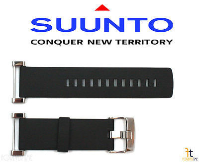 Suunto Core ORIGINAL Flat Black Rubber Watch Band Strap w/ Attachment Pins - Forevertime77