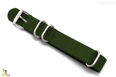 Luminox 3000 22mm Green Nylon Watch Strap Steel Loop(3) 3900 3200 3080 3100 - Forevertime77