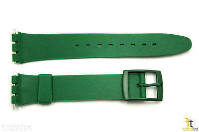 17mm Men's Dark Green Replacement Watch Band Strap fits SWATCH watches - Forevertime77