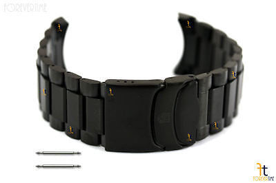 Luminox 8400 Black OPS 22mm Stainless Steel Bracelet Black IP Gun Metal w/2 Pins - Forevertime77