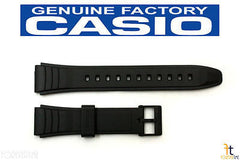 CASIO AW-49H Original 19mm Black Rubber Watch Band Strap AW-49HE
